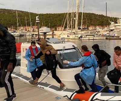 Çeşme'de 10 kaçak göçmen kurtarıldı