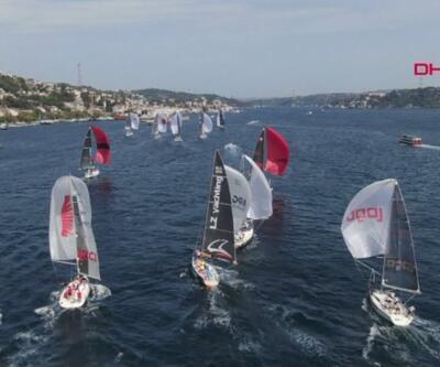 Yelkenli Tekneler İstanbul Boğazı'nda kıyasıya yarıştı