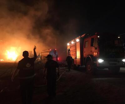 Gebze'de fabrikada yangın