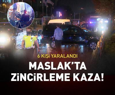 İstanbul Maslak'ta zincirleme kaza