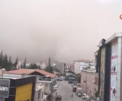 Toz bulutu şehri yuttu... Konya'da baraj gölü gözden kayboldu