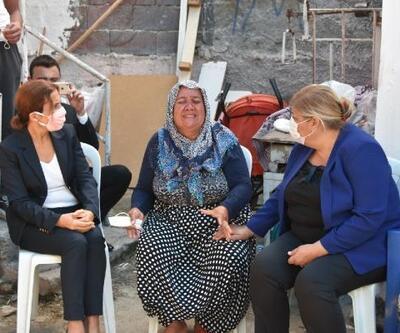 Başkan Erdem, eşi tarafından öldürülen Serap'ın ailesini ziyaret etti