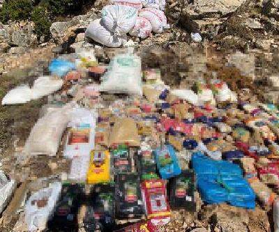 Son dakika.. Teröristlere ait 2 ton gıda malzemesi ele geçirildi