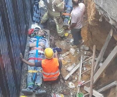 Son dakika.. Kadıköy'de inşaatta iskele çöktü