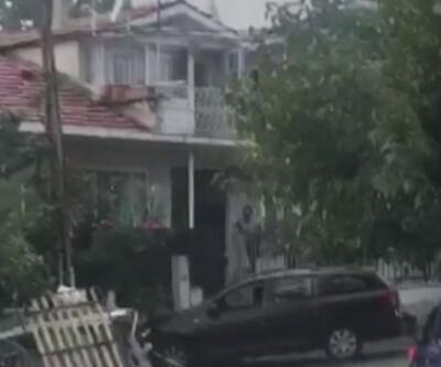 Son Dakika Haber: Eşinin sığındığı eve aracıyla daldı | Video
