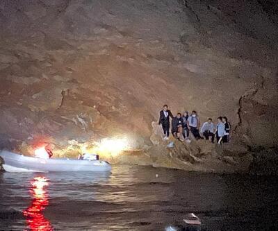 Muğla'da adada mahsur kalan 7 sığınmacı kurtarıldı