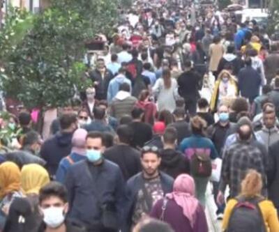 Beyoğlu'nda koronavirüs kalabalığı | Video