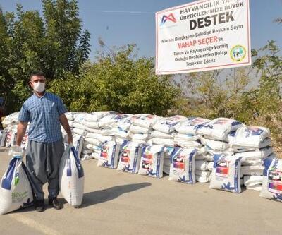 Süt üreticilerine kaba yem tohumu desteği