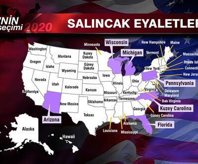 ABD'de seçim sonucunu bu eyaletlerden çıkacak oylar belirliyor | Video