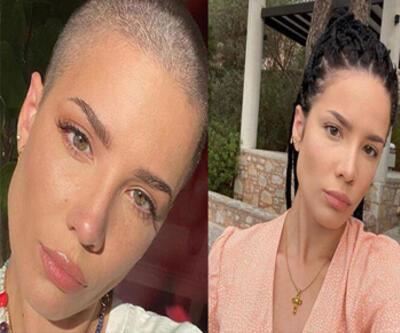 ABD'li şarkıcı Halsey saçlarını kazıttı