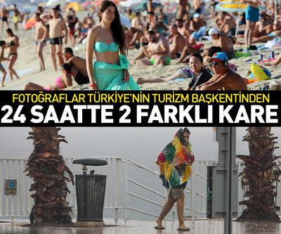 Birer gün arayla Antalya'da iki farklı manzara