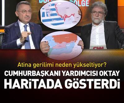 Cumhurbaşkanı Yardımcısı Oktay, haritada gösterdi