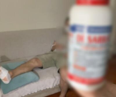 Lavabo açıcı patladı, vücudunda derin yanıklar oluştu | Video