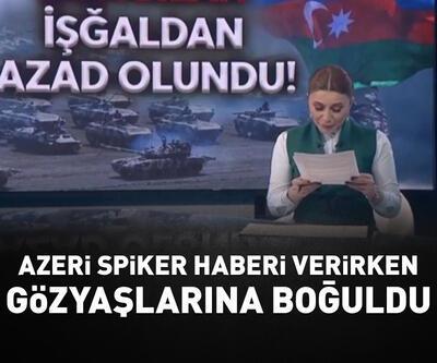 Azeri spiker haberi verirken gözyaşlarına boğuldu
