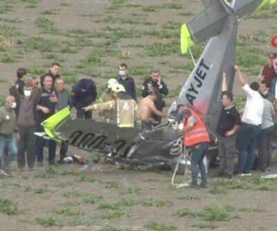 Son dakika... Eğitim uçağı düştü   Video