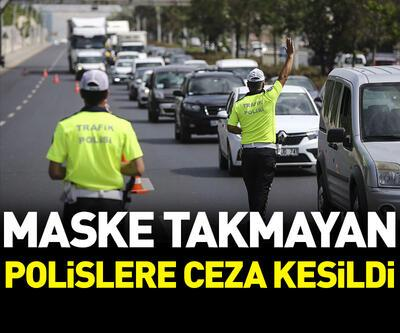 Maske takmayan polislere ceza kesildi