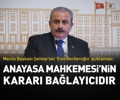 Meclis Başkanı Şentop'tan 'Enis Berberoğlu kararı' açıklaması