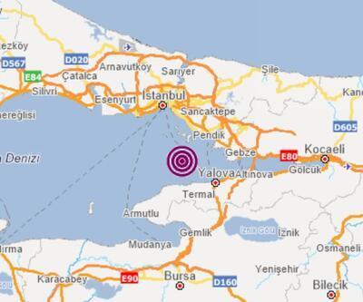 Son dakika... İstanbul'da gece saatlerinde  2,2 büyüklüğünde deprem