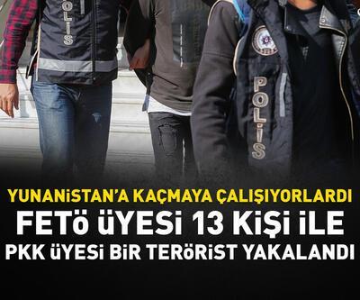 13 FETÖ'cü ve 1 PKK'lı yakalandı