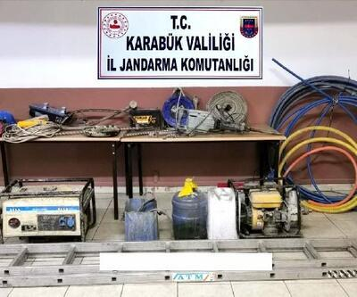 Karabük'te kaçak kazı yapanlar yakalandı