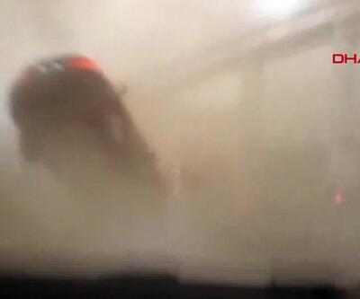İskendurun'da hortum çıktı... Arabasıyla hortuma kapılan kadının beli kırıldı!   Video
