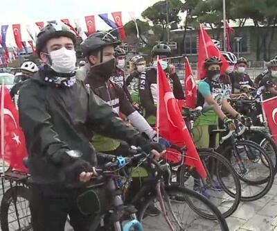 Cumhuriyet Bayramı'nı pedal çevirerek kutladılar | Video