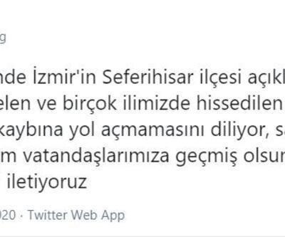 TFF ve kulüplerden İzmir'e geçmiş olsun mesajları