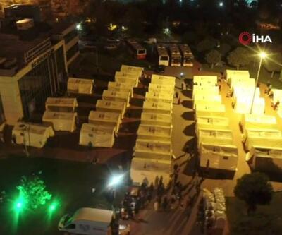 AFAD evlerine giremeyenler için çadırkent hazırladı | Video