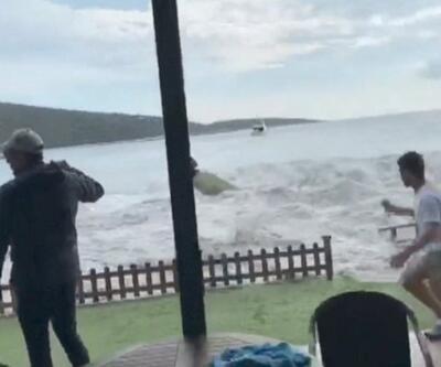 Seferihisar'daki tsunamiye ait yeni görüntüler çıktı   Video