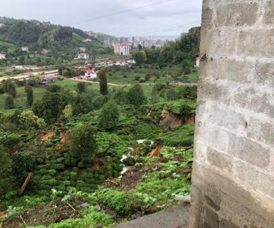 Rize'de heyelan nedeniyle 3 ev tedbir amaçlı boşatıldı