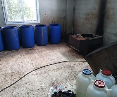 Adana'da 1180 litre sahte içki ele geçirildi