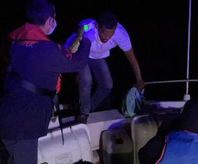 Aydın'da 25 kaçak göçmen kurtarıldı