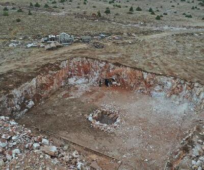 İnşaat kazısında yeraltı mağarası bulundu