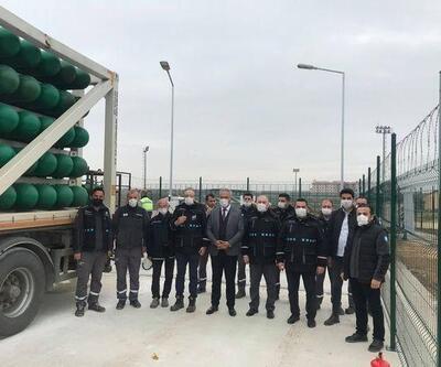 Pehlivanköy'e doğal gaz verildi