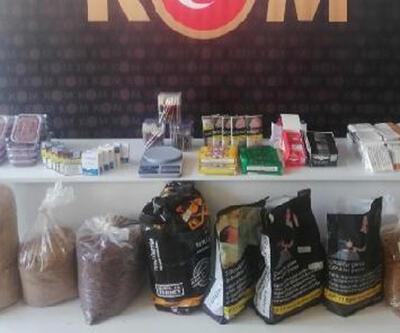 Aydın'da kaçak tütün ve içki operasyonu: 4 gözaltı