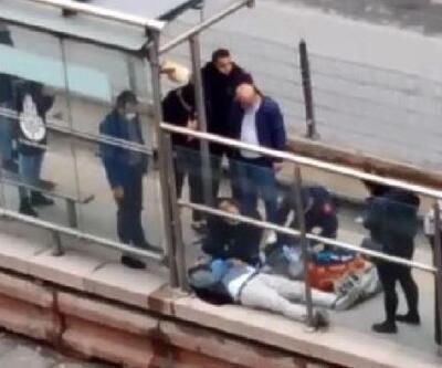 Tramvay beklerken kalp krizi geçiren kişi öldü