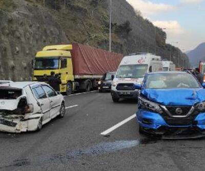 Tehlikeye aldırmadan kaza yerinden canlı yayın yaptılar