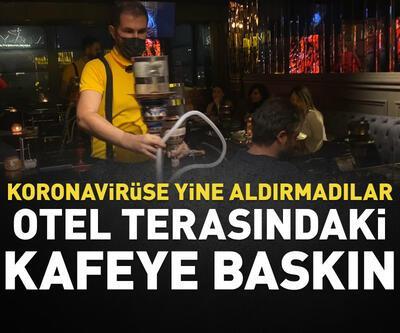 Otel terasındaki kafeye baskın