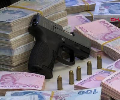 14 çete üyesi 1 milyon 400 bin lira ile yakalandı | Video