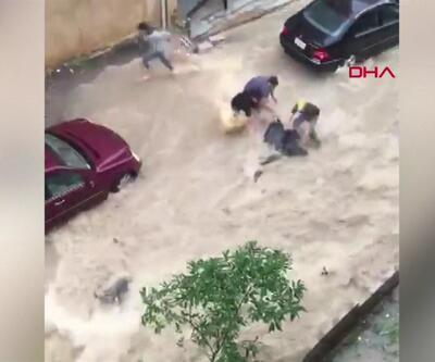 Lübnan ve İtalya'yı sel vurdu! | Video