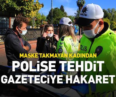 Polise tehdit gazeteciye hakaret