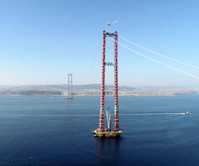 Çanakkale Köprüsü'nün 318 metrelik kuleleri, Eyfel'i geçti