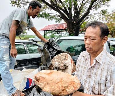 Tayland'da balıkçının 250 milyon TL'lik keşfi görenleri şaşırttı