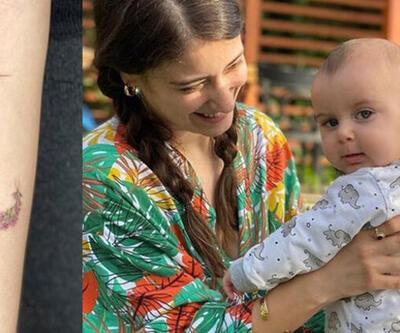 Hazal Kaya'dan anlamlı dövme
