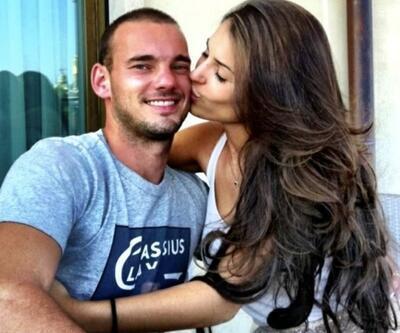 Sneijder'in Yolanthe'yi aldattığı fotoğraf