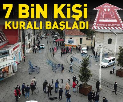 İstiklal Caddesi'nde 7000 kişi kuralı başladı