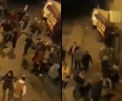 Kısıtlamayı umursamadılar! Polisi görünce çığlık çığlığa kaçtılar | Video