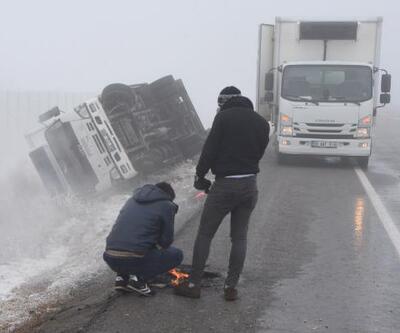 Sis ve buzlanma kazalara yol açtı: 3 yaralı