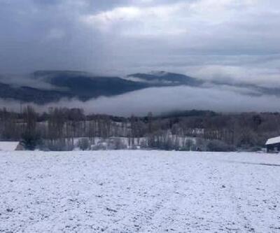 Taraklı'nın yüksek kesimleri beyaza büründü