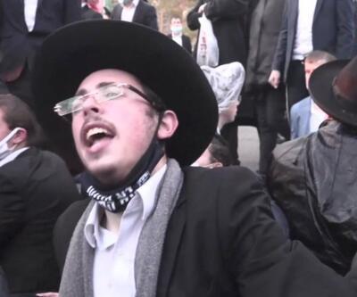 Askerliği reddeden Yahudi gruba polis saldırdı   Video